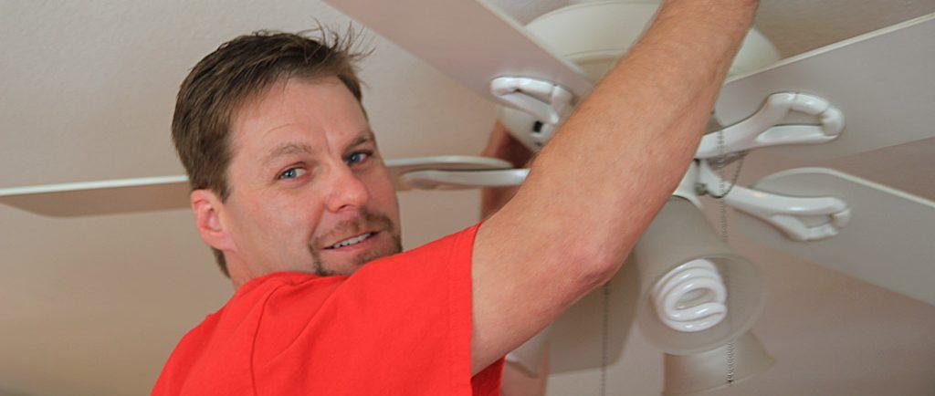 Ventura-Electrician-Installing-Ceiling-Fan-in-Home